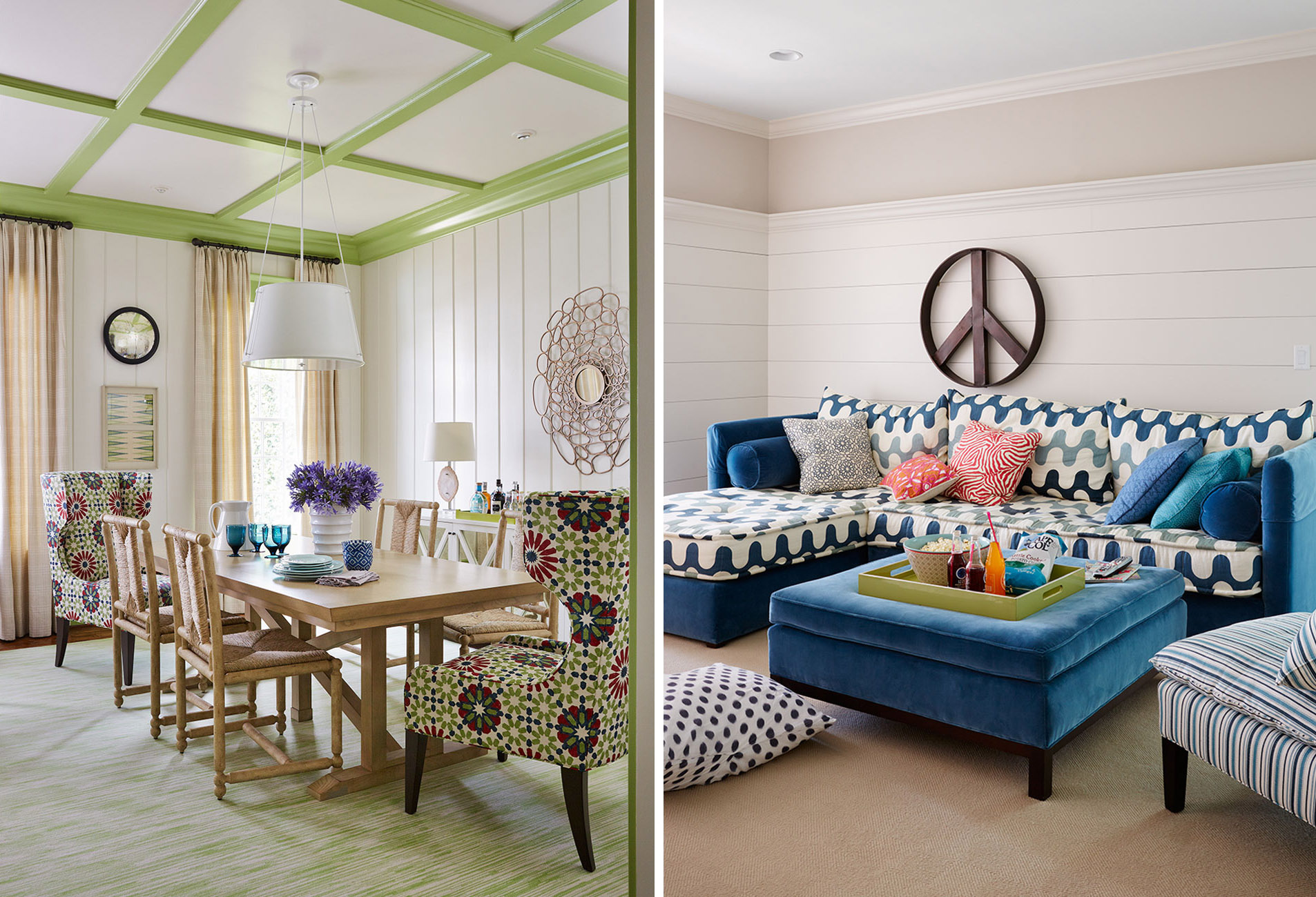Blue Walled Living Room | Andrew Howard Interior Design via Scout & Nimble